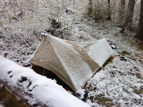 tarp in snow