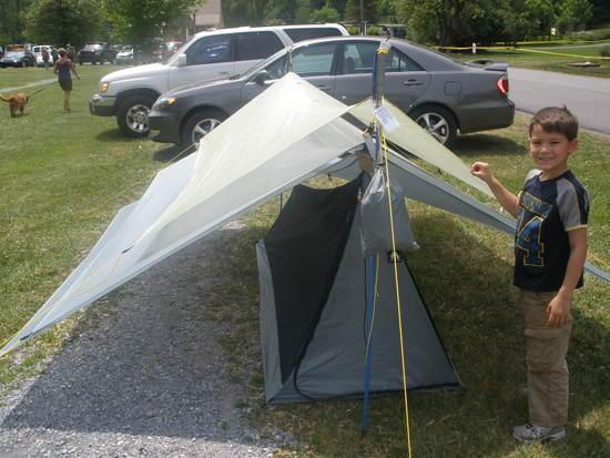 Ron's tarps & my son