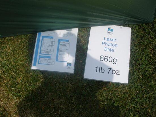 Laser tent specs