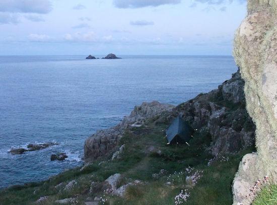 Coastal campsite