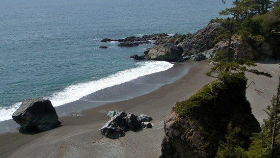 Sunny beach view