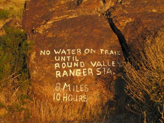 8 mile warning rock