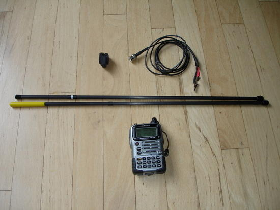 2m  carbon fiber backpacking yagi, more compact than KD5IPV's design.