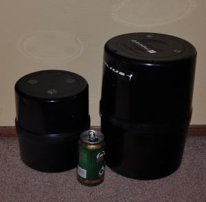 Bear canister size comparison