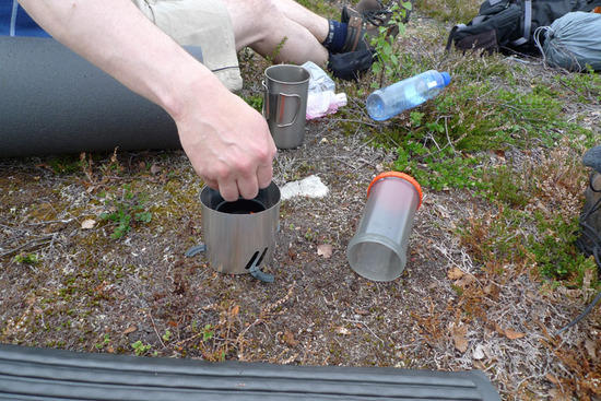 Setting up the Gearpods stove