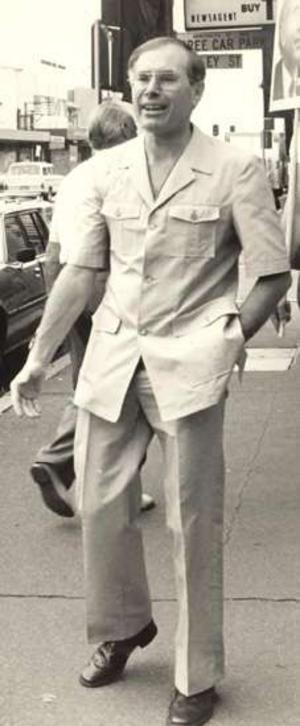 Ex Australian PM Looking cool in a safari suit....