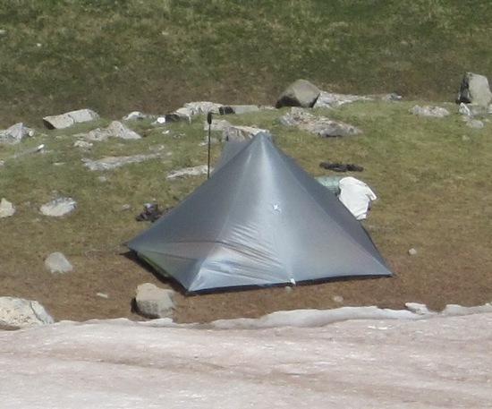 'Pentamid' tarp tent