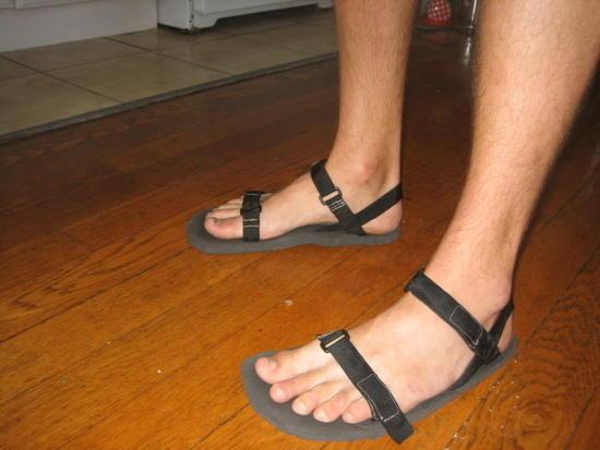 My homemade ultralight sandals