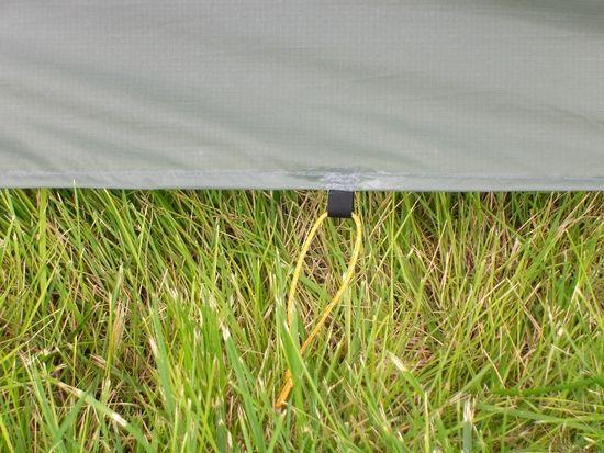 Black stake loop added on the center of each of the long sides of the Moment tent