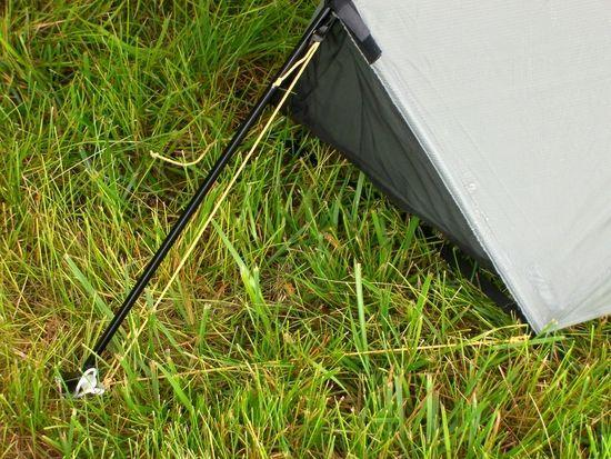 Tarptent Moment with Triangular End Door Closed (and Optional Center-Line Pole)