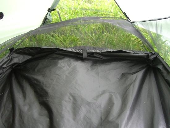 Tarptent Moment End Flap Rolled Up and Tied