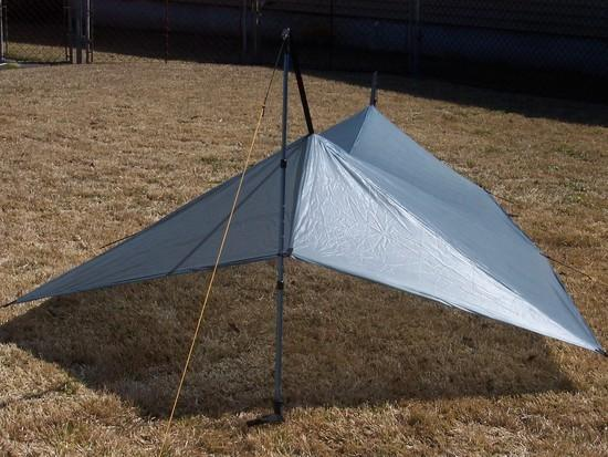 Silnylon tarp with beaks