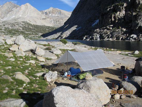 Camp at Lower Palisade