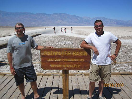 Me and Josh at Badwater, Death Valley. 282 feet below sea level