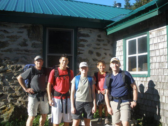 My group at Carter Notch Hut