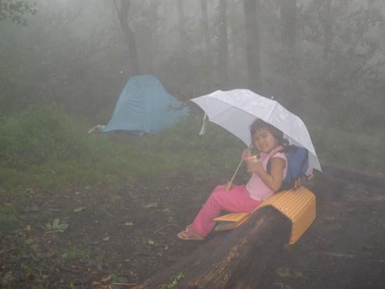Brooke staying dry