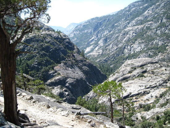 Muir Canyon switchback