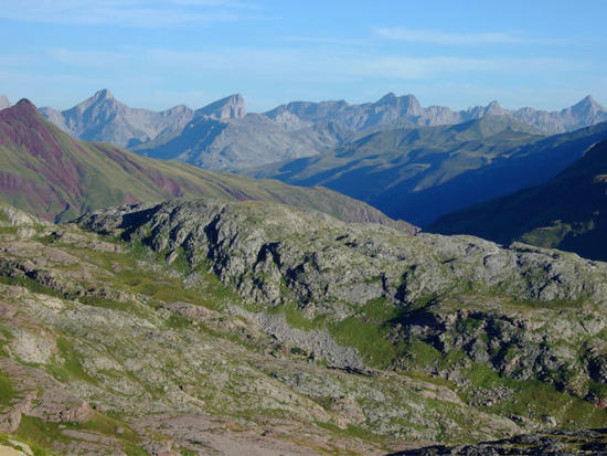 View from the end of Valle de los Sorrios to Ibon de Estanes