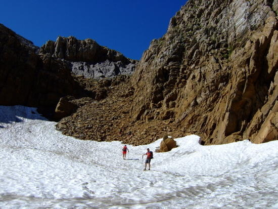Snow Field crossing about 2300m.