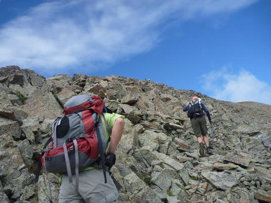 Scramble to top of Montezuma Peak.