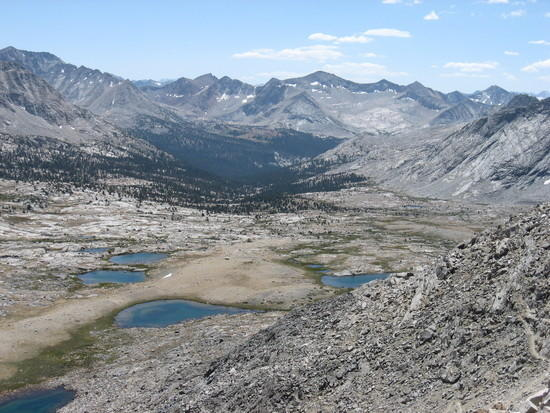 Looking south from Mather Pass