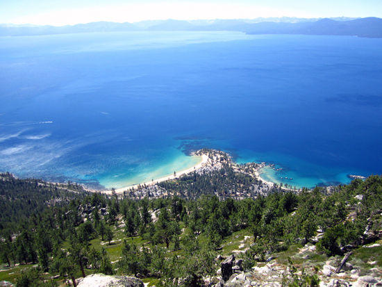 Sand Harbor (Lake Tahoe) from Christophers Point