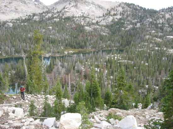 climbing to Lake Kathryn