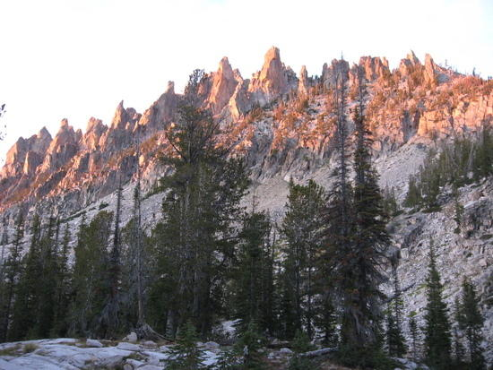 sunrise on Monte Verita ridge
