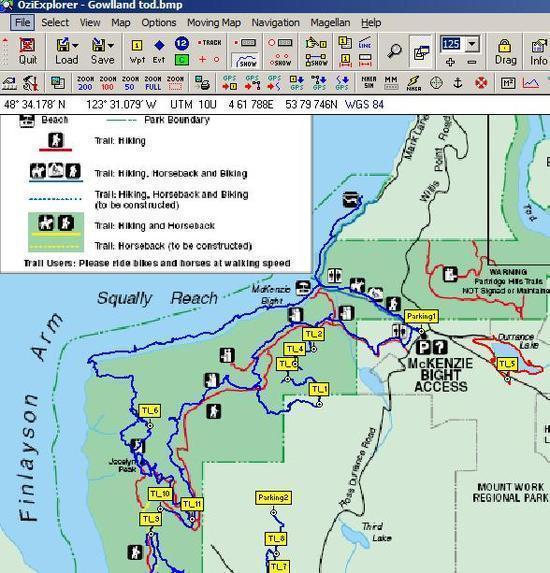 OziExplorer map