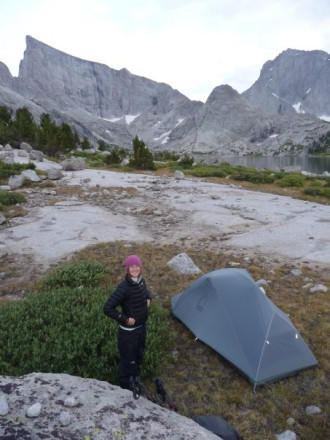 Camping at Deep Lake, Wind River Range