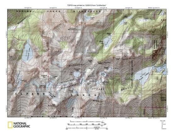 Enchantments TOPO Map