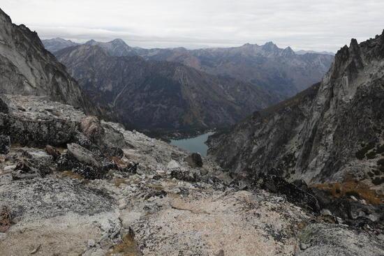 View over Aasgard Pass at 7800 feet