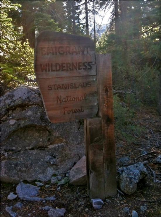 Emigrant Wilderness Sign
