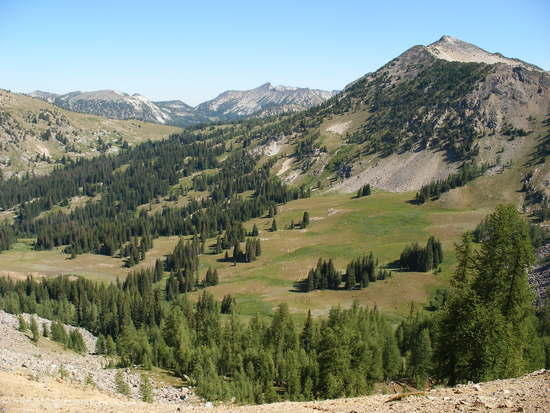 Looking north from Deadman Pass