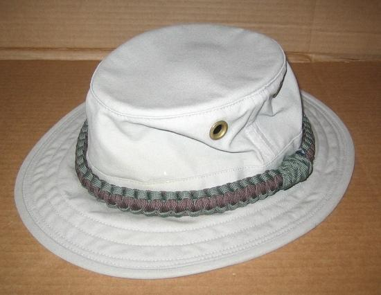 Tilley T5 cotton hat with paracord hat band