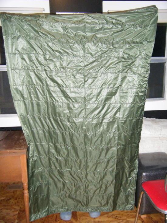 Baffles sewn/3 sides hemmed