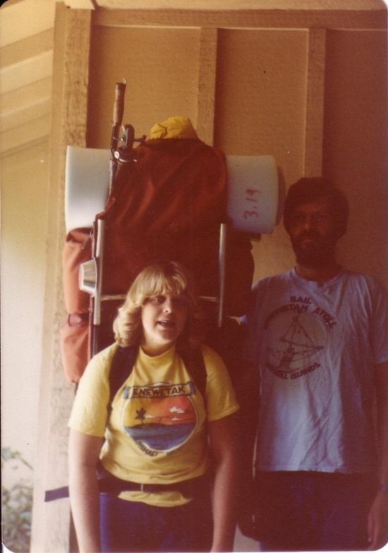 me in 1978 with big pack