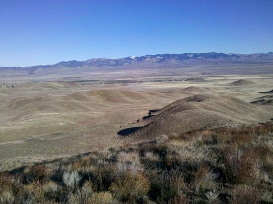 Mohave desert and the Tehachapi Range