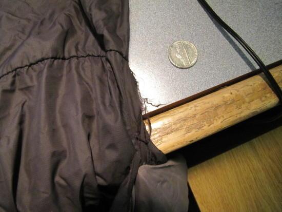 minor ripping of pillow pocket
