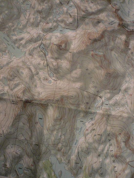 Wall lake map