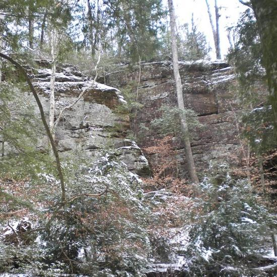 Sipsey Bluffs in the Snow