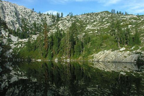 Little Bear Lake in the Trinity Alps
