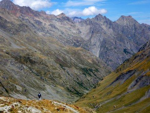 descent from col de l'aup martin
