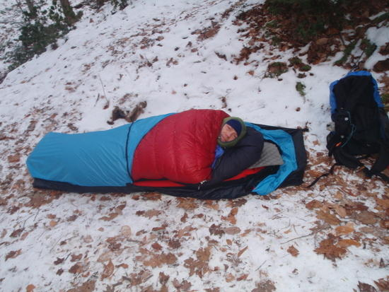 Me in my bivy