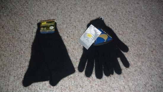 gloves and socks