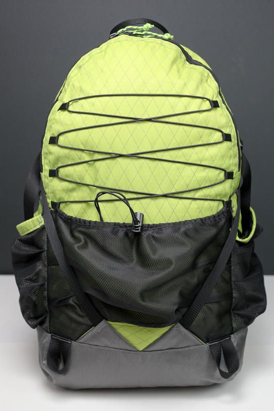 Front view of pack