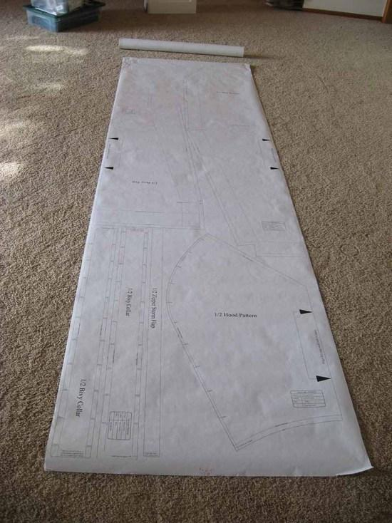 Bivy Pattern before cutting