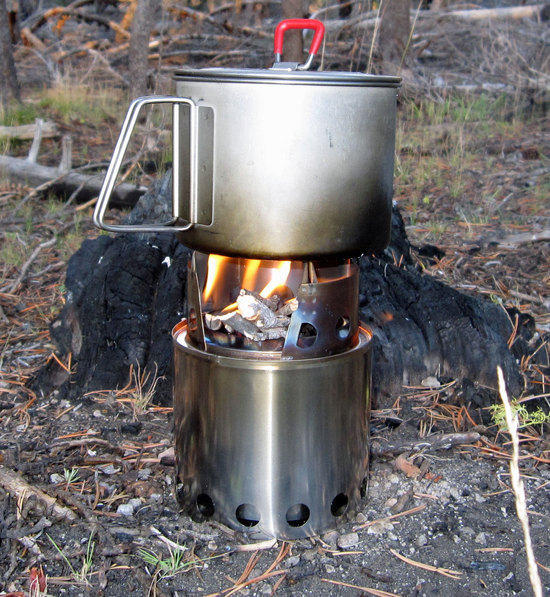Breaking in the BushBuddy Stove