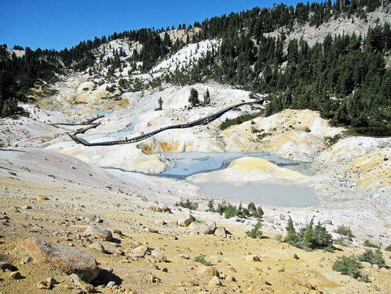 First View of Bumpass Hell