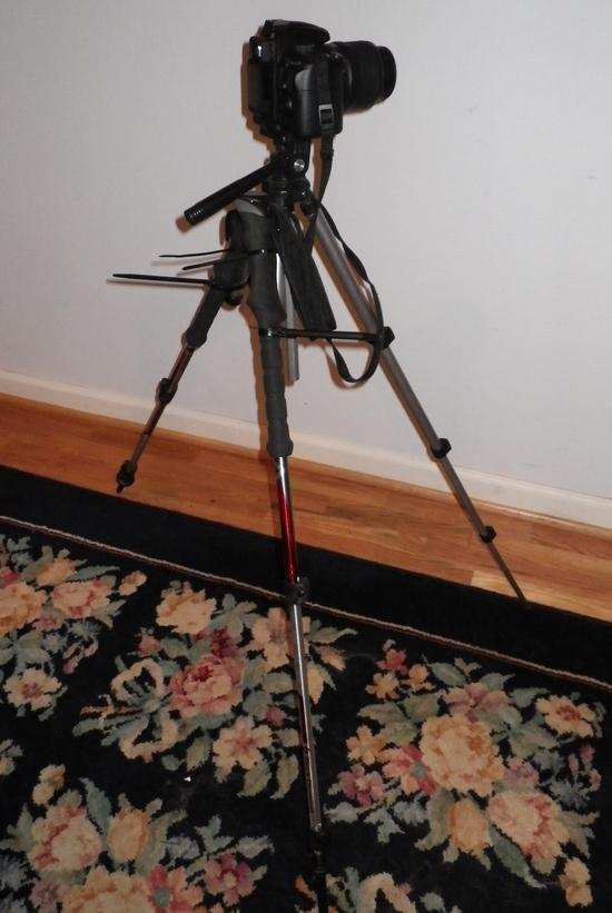 Cut down tripod with trekking poles